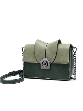 Korean Style Color Block Women Cross Body Bag