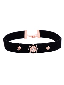 Stars Shape Velvet Choker Necklace