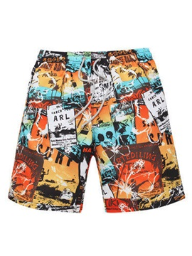 Tidebuy Cartoon Print Mens Board Shorts