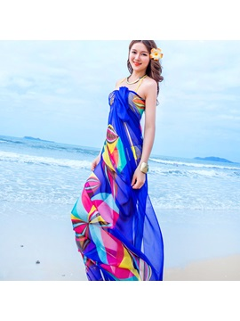 Overlength Chiffon Silk Like Lighter Beach Shawl