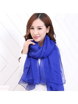 Solid Color Chffion Lightweight Summer Scarf