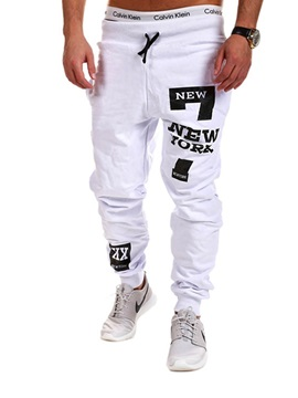 Tidebuy Hip Hop Letter Print Mens Casual Sports Pants