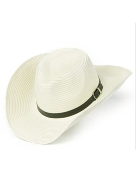 Hemming Shade Summer Straw Cowboy Mens Hat