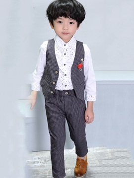 Polka Dots Full Length Boys Suit