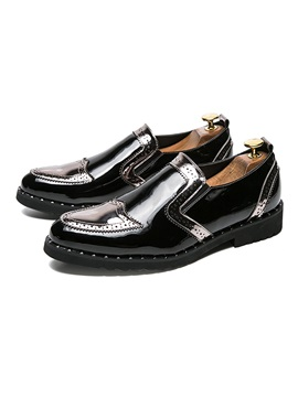 Pu Slip On Mens Dress Shoes