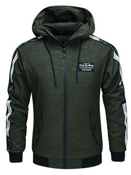 Tidebuy Hooded Camouflage Mens Casual Sports Jacket