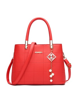 Vogue Solid Color Tote Bag