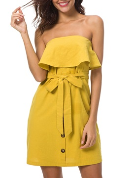 Tidebuy Falpala Strapless Short Day Dress