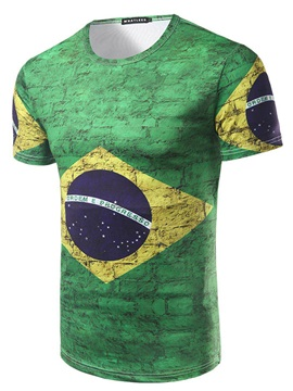 Tidebuy World Cup Brazil Fans Mens T Shirt