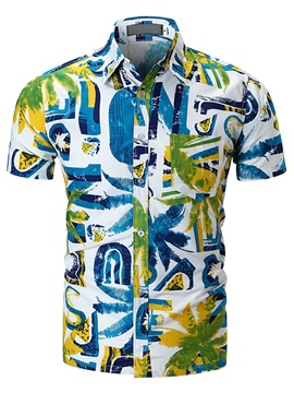 Tidebuy Hawaii Style Mens Summer Shirt