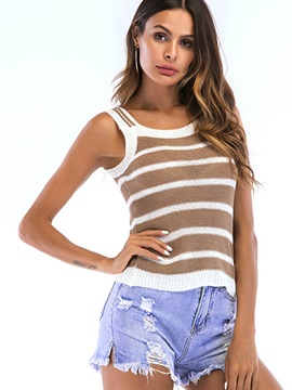 Stripe Slim Womens Tank Top