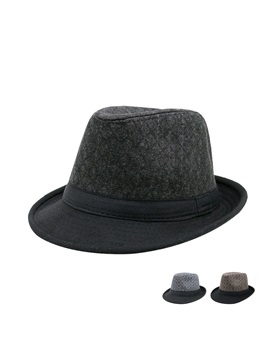 Fashion Flat Brim Mens Jazz Hat