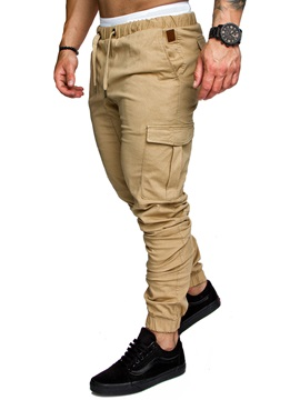 Tidebuy Plain Cotton Mens Casual Pants