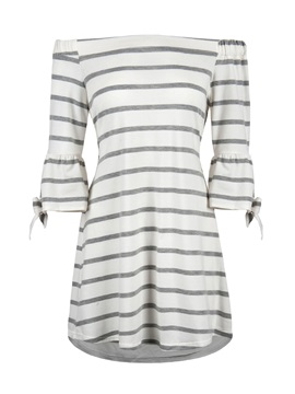 Tidebuy Off-The-Shoulder Pullover Women's A-Line Dress
