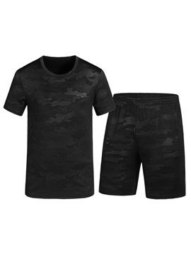 Tidebuy Black Camouflage Short Mens Sports Leisure Suit