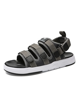 Cloth Velcro Open Toe Mens Casual Sandals