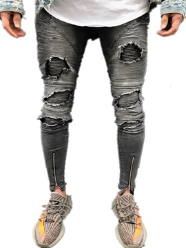 Tidebuy Skinny Hole Worn Stylish Mens Ripped Jeans