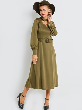 Tidebuy Vintage Pullover Womens A Line Dress