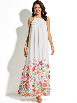 Beach Look Floral Womens Maxi Dress