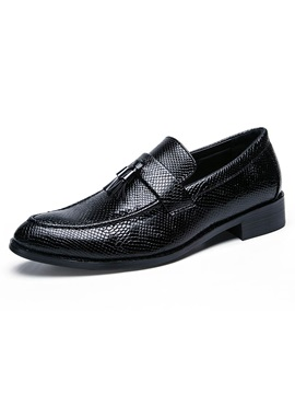 Pu Fringe Slip On Mens Dress Shoes
