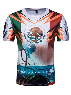 Tidebuy World Cup Style Print Mens T Shirt