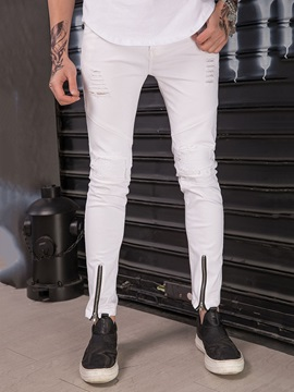 Tidebuy White Hole Stylish Mens Ripped Jeans