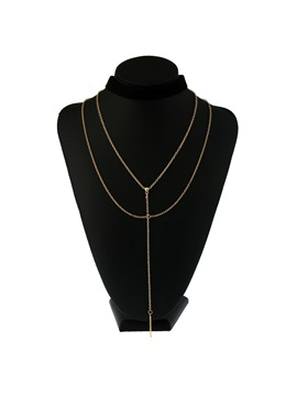 Concise Black Velvet Three Row Alloy Choker Necklace