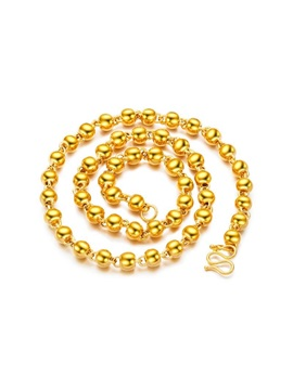 Hot Sale Bead Gold Plating Mens Necklace