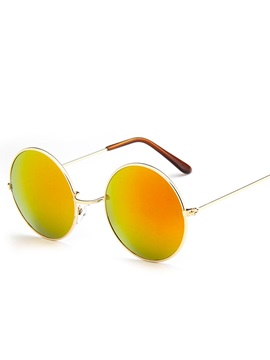 Hot Sale Orange Colored Metal Round Sunglasses