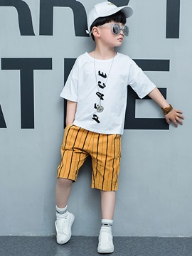 Casual Loose Fit Printing Boys 2 Piece Outfit