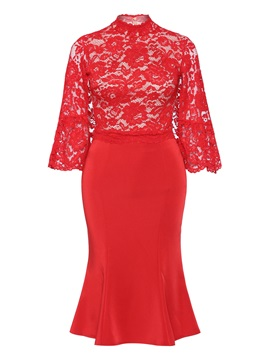 Tidebuy Red Hollow Plusee Plaiin Womens Maxi Dress