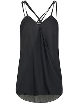 Pleated Loose Single Womens Tank Top