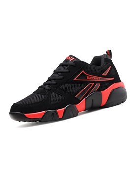 Mesh Patchwork Lace Up Mens Fashionable Sneakers