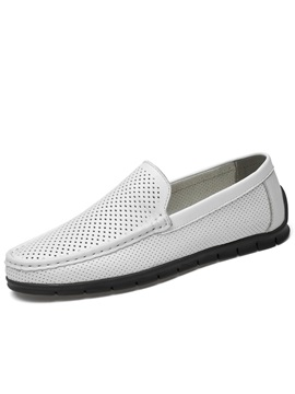 Hollow Round Toe Slip On Mens Casual Shoes