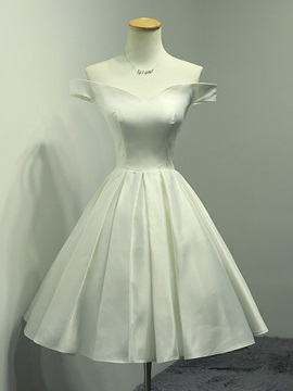 A Line Off The Shoulder Simple Homecoming Dress