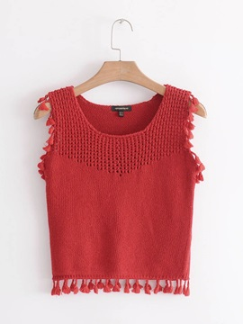 Tassel Slim Womens Tank Top
