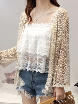 Crochet Cut Out Cardigan