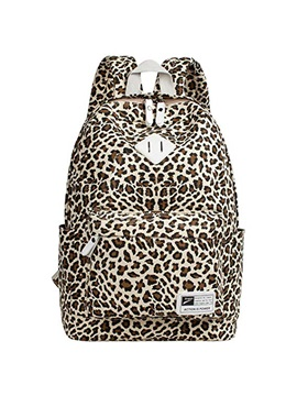 Fashion Leopard Canvas Women Backpack