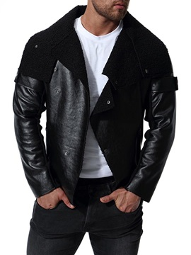 Black Asymmetric Mens Leather Jacket