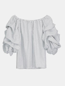 Mesh Double Layered Off Shoulder Womens Blouse