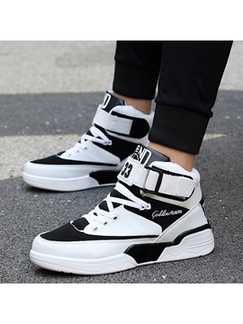 Pu Velcro High Cut Upper Mens Skater Shoes