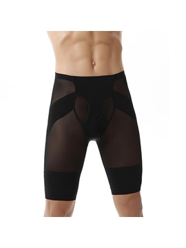 Mens Breathable Body Shaping Knee Length Control Pant
