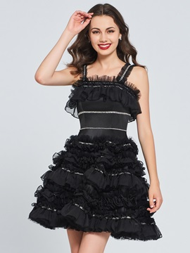 A Line Beading Ruched Mini Homecoming Dress