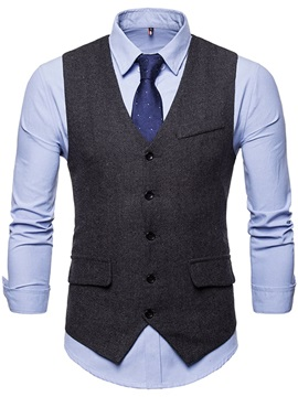 Single Breasted Mens Casual Dress Vest