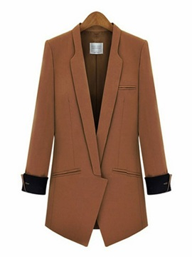 Fall Camel Ol Mid Length Womens Blazer