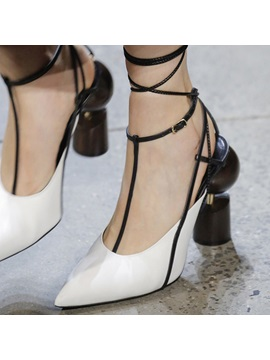 Pointed Toe Shaped Heel Womens Sandals