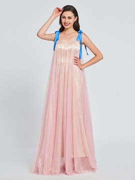 A Line Straps Multi Color Prom Dress