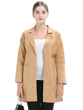 Fall Lapel Thin Womens Wrap Trench Coat