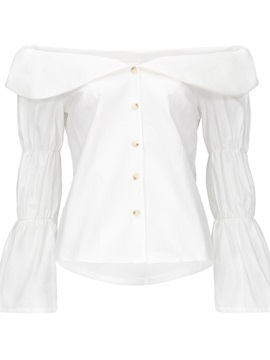 Off Shoulder Bell Sleeve Womens Blouse