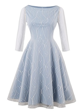 Scoop Neck Lace A Line Homecoming Dress